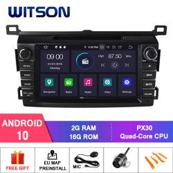 Witson Quad-Core Android 10 Radio de coche GPS para Toyota RAV4 2013-2014 módulo WiFi integrado vehículo reproductor de DVD
