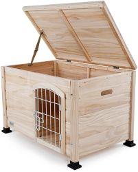 Todo en una jaula de perro de madera al aire libre para pequeños animales dog house