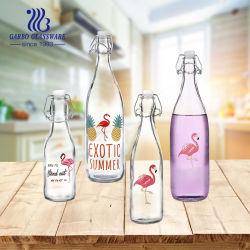 1L оптовой Наклейка Логотип стеклянную бутылку с хорошей ценой (ГБ46021000-T5)