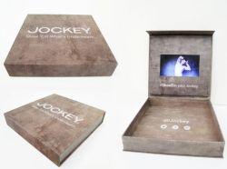 Casamento personalizado Music Video Caixa Brochura Dom Ring Caixa de jóias com LCD