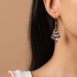 Venta directa de fábrica de joyas de vacaciones personalizadas pendientes colgante para árbol de Navidad