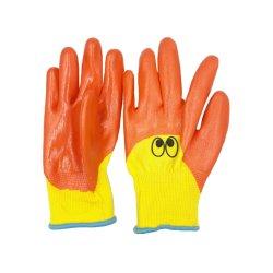 Recubierto de nitrilo OEM niños al aire libre la jardinería Guante mano protectora