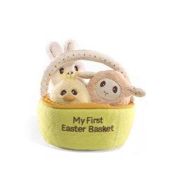 [إستر] أرنب قطيفة يكيّف سكّر نبات [إستر] سلّة طفلة هبات