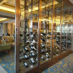 Restaurant bouteille Présentoir armoire rack porte en verre de vin