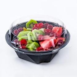 처분할 수 있는 포도는 큰 플라스틱 과일 쟁반 샐러드 콘테이너 슈퍼마켓 열매를 맺는다