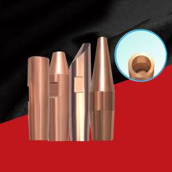 공장에서 공급되는 고품질 Cucrzr Cual2o3 소재 용접 캡 팁 용접 기계용 전극
