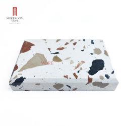 Produtos prefabricados de Pavimentação Piso Parede colorida decoração Chips de mármore natural Branco cinza preto Terrazzo Stone