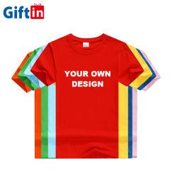 Venda por grosso de logotipo Design personalizado para homens e mulheres unissexo Kids Planície de vestuário com excesso de bordar em branco Branco Moda ODM OEM T 100% algodão camiseta S T-shirt Imprimir