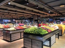 Fabrik Verkauf Einfache Installation Lebensmittelgeschäft Obst und Gemüse Display Regal Supermarkt Regale Lagerregale
