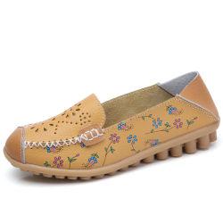 Womens Trotteurs en cuir respirant de patiner sur la conduite des chaussures de marche de confort décontracté des chaussures plates