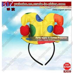 Regali di festa di carnevale di Halloween del rifornimento del partito del legame di arco di Hairband del cappello superiore della fascia del pagliaccio mini (B2039)