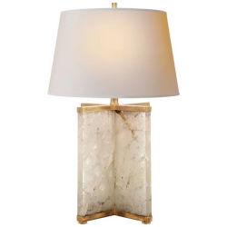 Lampade di cristallo bianche naturali della Tabella della pietra preziosa dell'agata di lusso del lampadario a bracci