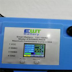 리튬 이온 축전지를 위한 Ewt 12V 100ah LCD BMS Bluetooth