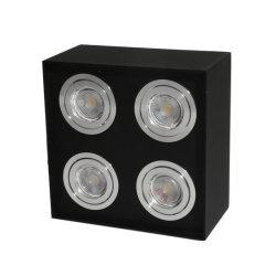 Handelsbirnen Downlight des aluminium-4units LED quadratische Oberfläche eingehangenes PFEILER LED Büro-Punkt-Licht