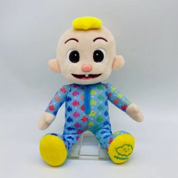 Custom Soft Baby pluche Cocomelon JJ Doll Muzikale bedtijd JJ Pop Toy Singing Cocomelon JJ Musical Doll