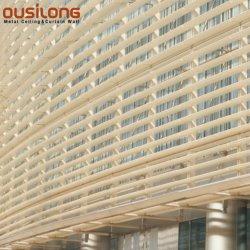 Bens móveis edifício exterior de alumínio de ventilação Parasol Obturador da fresta da Janela