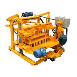 시멘트 에그 깔개 이동식 할로우 벽돌 가공 기계 Qt40-3A 콘크리트 기계 바닥 레이어 수동 차단
