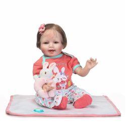 Nova chegada Fashion sorridente de Silicone macio renascido boneca de bebé para crianças Dom