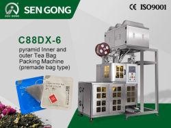 C88dx-6 نوع آلي من النايلون نوع الهرم بجيش بلا نوع الشاي آلة تعبئة الحقائب (نوع الكيس الذي تم صنعت مسبقًا)
