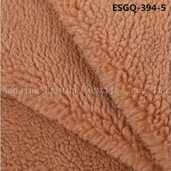 100% poliéster de bucle de corte Faux Fur Esgq Shearling-394-5