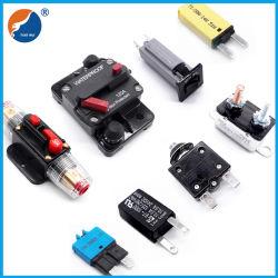 Wasserdichter Selbstrücksetzen-Handrücksteller-elektrischer Überlastungs-Schoner Mini-Wechselstrom-Gleichstrom-thermischer Schoner-Schalter-Automobilauto-Sicherung