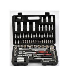 """108 PCS (soquete 1/4"""" &1/2"""") do conjunto de ferramentas de chave de Soquete do Carro de ferramentas de reparo automático"""