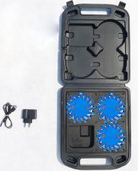 Светодиодный индикатор дорожных осветительных ракет аварийный диск дороги безопасности дорожного движения мигает лампа проблескового маячка на машине погрузчика на лодке с аккумуляторами (комплект из 3)