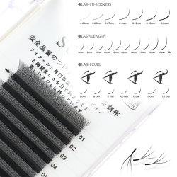 Injerto suave y volumen claro Clover Eyelashes Yy W Diseño Nature Long Fake Individual False Eye Lashes Extensions