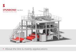 S 1600mm à faisceau unique tissu non tissé Spunbond Making Machine et de machines textiles