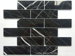 Черный и белый мрамор черный стеклянной мозаики плиток с Memory Stick™ для создания мозаики-1046 Gys