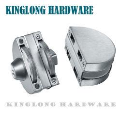 Roestvrijstalen glazen deur Hardwrae glazen fitting halfrond dubbele deur Borg met schroef