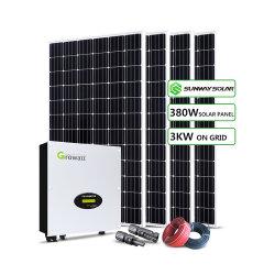 Высокое качество дома солнечной системы питания 3Квт 5 квт 10квт 15квт 20квт 50КВТ по сетке / выкл. сетку с лучшим соотношением цена для внутреннего использования
