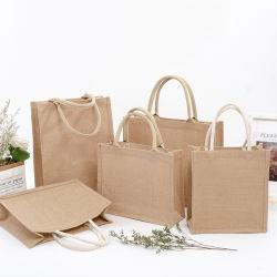 Juteleinwand Eco bereiten freundlicher Jutefasertote-Beutel faltbare Jutefaser-Einkaufstasche auf