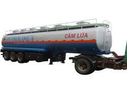45000litros Carton Steel 3 Eixo Fuwa 6 Habitáculo Petroleiro de combustível semi reboque com Jost Carregando Pernas e Pino Mestre