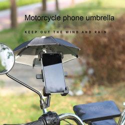 아웃도어 바이크 우산 장난감 아르데코 폴리에스테르 직물 휴대폰 선블록 레인 우산