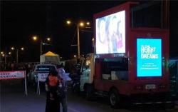 شاحنة عرض LED 3 جوانب P5 مخصصة 9 أقدام و12 قدمًا 16 قدمًا صندوق الجسم لإسرائيل