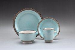 De goedkope Ceramische het Schilderen van de Hand van het Diner Vastgestelde Waren van de Keuken van het Vaatwerk van het Steengoed Vastgestelde