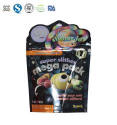 印刷されるプラスチック包装袋の習慣はおもちゃのためのResealable特別な整形袋を立てる
