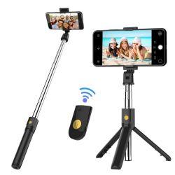 Control inalámbrico Bluetooth Trípode Selfie Stick para ios teléfono inteligente Android