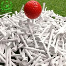70mm 길이 공백 백색 색깔 승진에 의하여 주문을 받아서 만들어지는 나무로 되는 골프 티