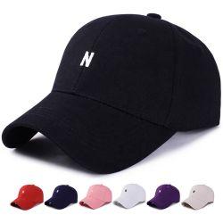 조정가능한 수를 놓은 편지 N 보통 스포츠 야구 모자