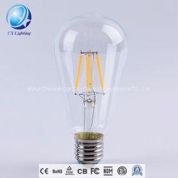 St64 Style 6W Edison E26/E27 220V LED Ampoule à filament de tungstène de lumière à LED pour la maison Décoration d'éclairage