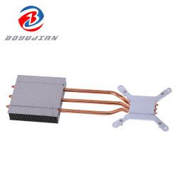 مبرد وحدة المعالجة المركزية لمروحة الكمبيوتر المحمول الكمبيوتر الرئيسي تبريد مكون الألومنيوم تخصيص مرن للرادياتير