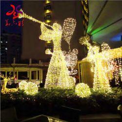 날개 주제 가로등을%s 가진 크리스마스 공정한 판단 아크릴 3D 천사
