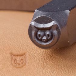 宝石類のツールの革クラフトのツールの記号デザイン金属のスタンプS049猫の表面記号の穿孔器