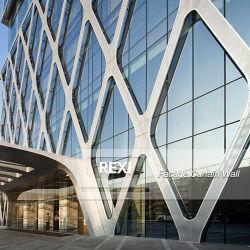 La Chine sur mesure aux Émirats arabes unis Dubaï USA Australie Nouvelle Zélande mur-rideau façade de verre aluminium unitisée système personnalisé