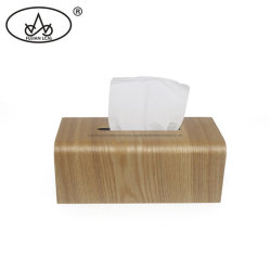 Casella di legno del supporto dei regali del documento del tovagliolo della noce di rettangolo del tessuto con i marchi personalizzati