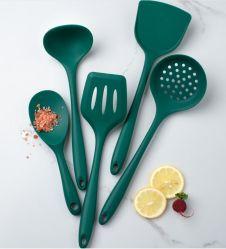 Utensilio de cocina de silicona resistente al calor de la espátula de cocina Juego de herramientas para Non-Stick utensilios de cocina