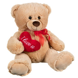 عيد الحب بالجملة الدمى الدب أحبك الدب الدب الدب البلش لعبة مع قلب