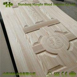 MDF precio de fábrica de la puerta de melamina de moldeado HDF/puerta de madera piel